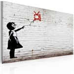 Obraz - Girl with TV (Banksy)