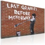 Obraz - Last graffiti before motorway (Banksy)