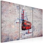 Obraz - Around the Great Britain by Routemaster - triptych