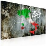 Obraz - Artistic map of Italy - triptych