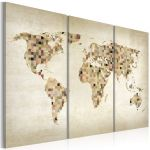 Obraz - Beige shades of the World - triptych