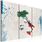 Obraz - Map of Italy - triptych
