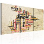 Obraz - Spain: text map in colors of national flag