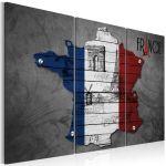 Obraz - Symbols of France - triptych