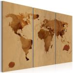 Obraz - The World painted with coffee - triptych