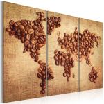 Obraz - Coffee from around the world - triptych
