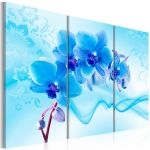 Obraz - Ethereal orchid - blue