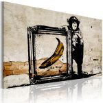 Obraz - Inspired by Banksy - sepia
