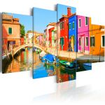 Obraz - Waterfront in rainbow colors