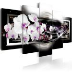 Obraz - Orchids on a black background