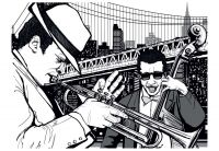 Fototapeta - New York, hudba, jazz ...