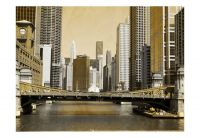Fototapeta - Chicago bridge (vinobraní efekt)