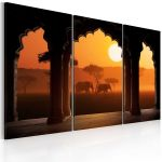 Obraz - The tranquillity of Africa - triptych