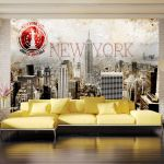 Fototapeta - New York - POST AGE STAMP