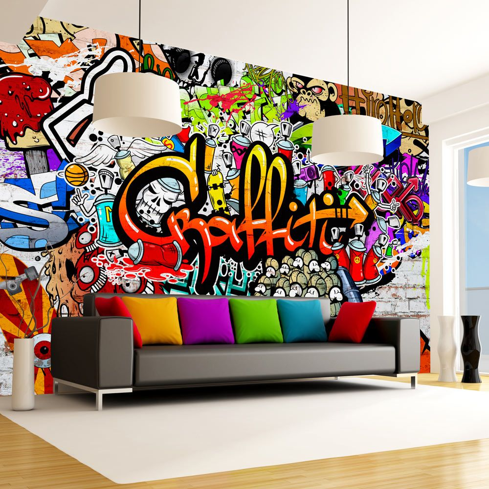 fototapeta barevn graffiti. Black Bedroom Furniture Sets. Home Design Ideas