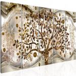 Obraz - Tree and Waves (5 Parts) Brown