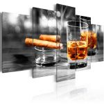 Obraz - Cigars and whiskey