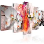 Obraz - Colorful background and orchids