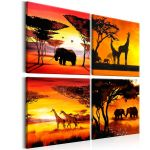 Obraz - African Animals (4 Parts)