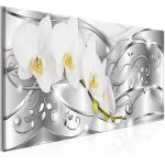 Obraz - Flowering (1 Part) Narrow Silver