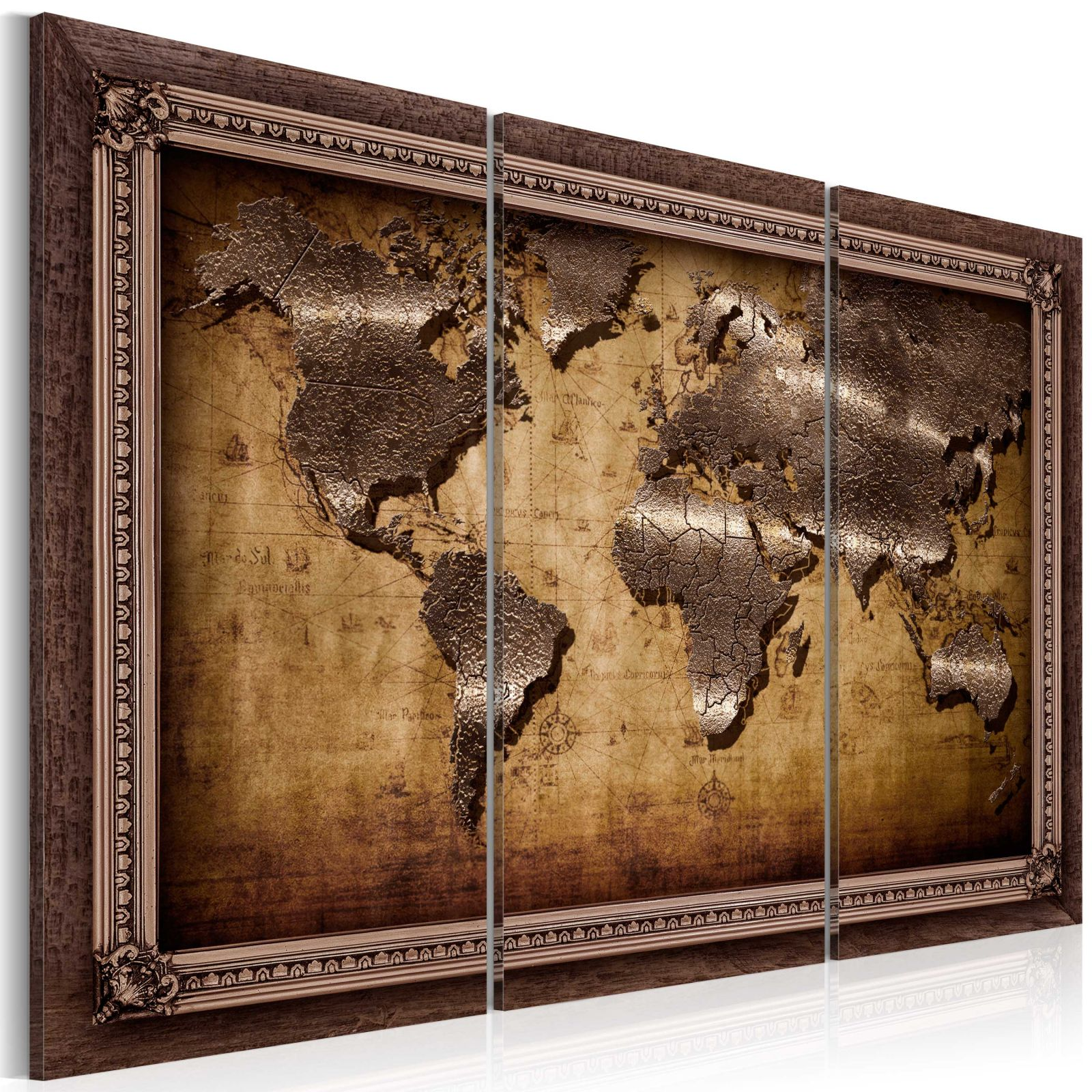Obraz - The Map in a Frame