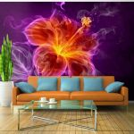 Fototapeta - Fiery flower in purple