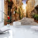 Fototapeta - Colourful Street in Tuscany