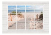 Fototapeta - Window & beach