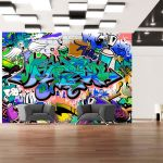 Fototapeta - Graffiti: blue theme