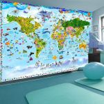 Fototapeta - World Map for Kids