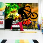 Fototapeta - Bicycle Tricks