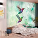 Fototapeta - Colourful Hummingbirds (Green)