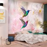 Fototapeta - Colourful Hummingbirds (Pink)