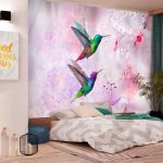 Fototapeta - Colourful Hummingbirds (Purple)
