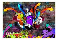 Fototapeta - Graffiti: Colourful attack