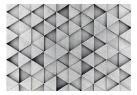 Fototapeta - Grey Triangles