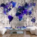 Fototapeta - World Map: Ink Blots
