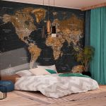 Fototapeta - World: Stylish Map