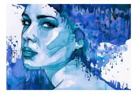 Fototapeta - Blue Lady