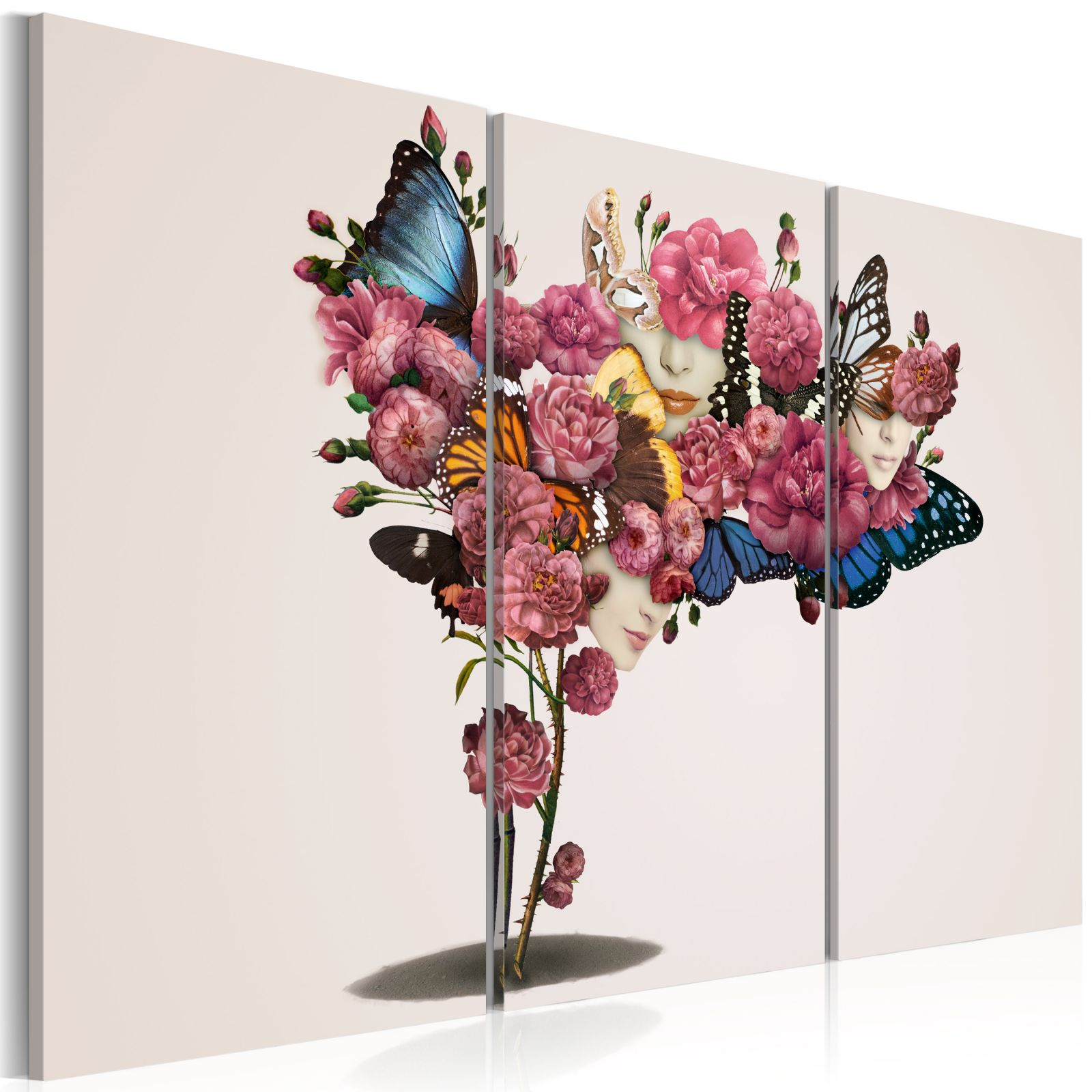 Obraz - Butterflies, flowers and carnival