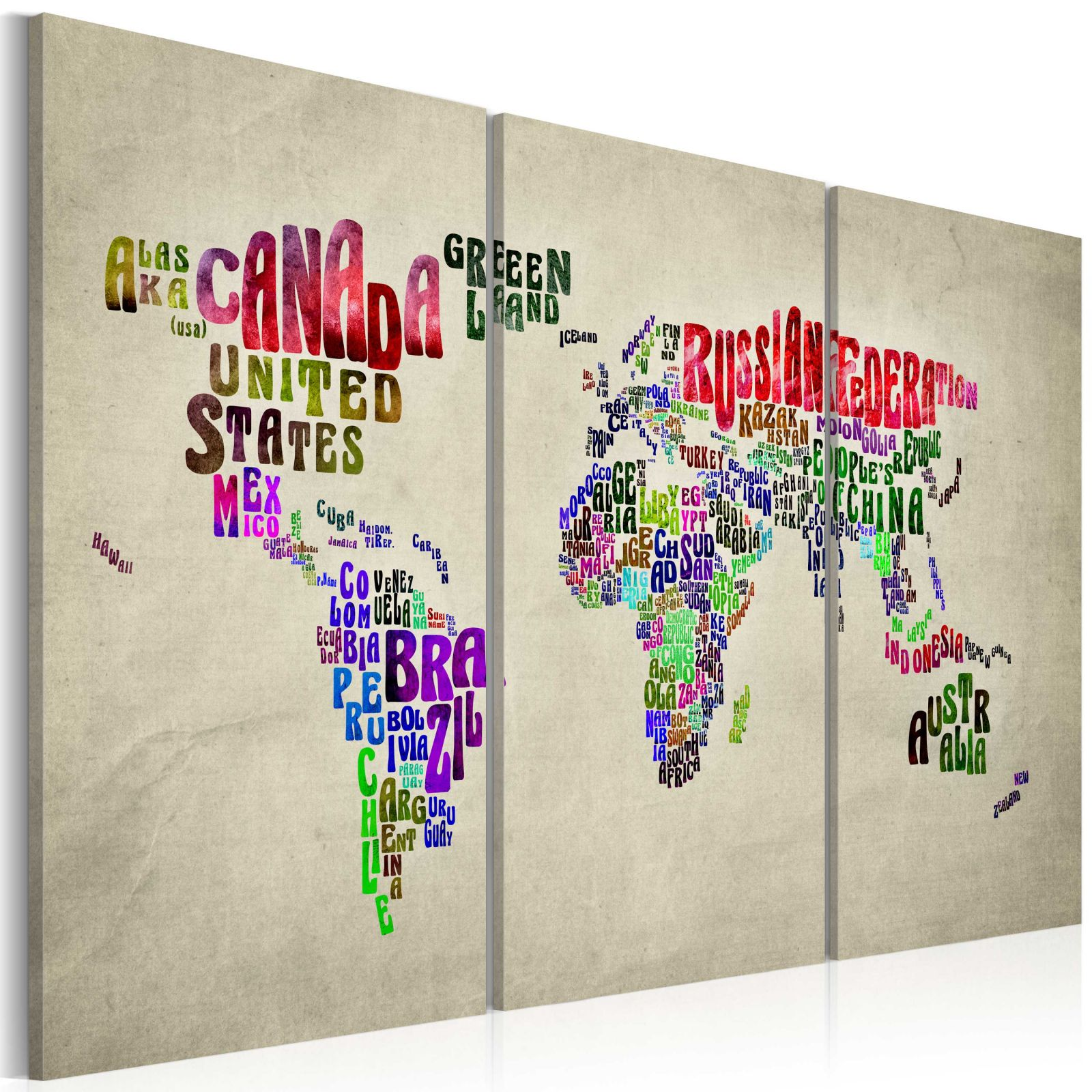 Obraz - Colorful countries - triptych