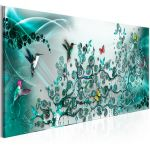 Obraz - Hummingbirds Dance (1 Part) Turquoise Narrow