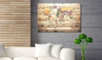 Obraz - World Map: Colourful Continents
