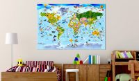Obraz - Children's Map: Colourful Travels