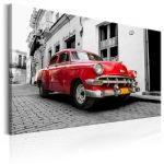 Obraz - Cuban Classic Car (Red)