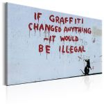 Obraz - If Graffiti Changed Anything by Banksy