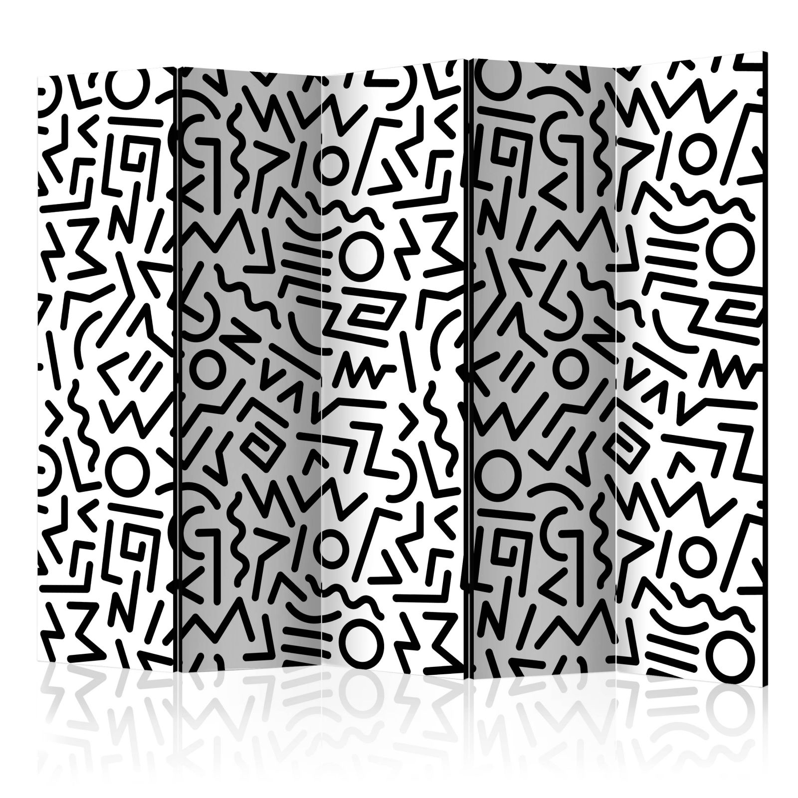 Paraván - Black and White Maze - 225x172