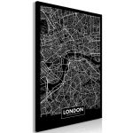 Obraz - Dark Map of London - jednodílný  svislý