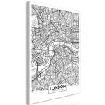 Obraz - Map of London - jednodílný  svislý