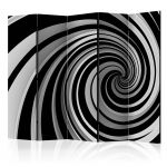Paraván - Black and white swirl II